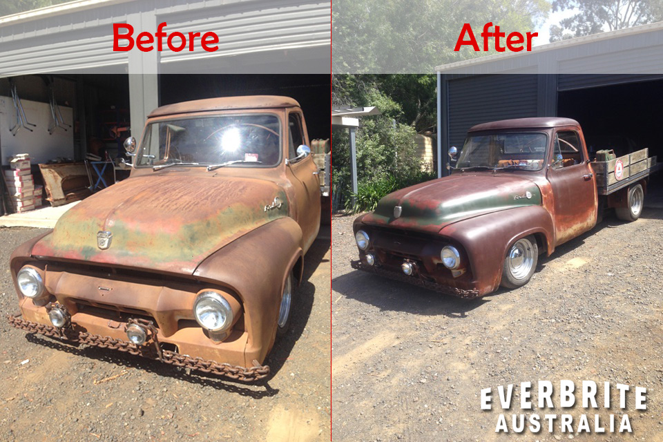 F-150 Truck Before and After Everbrite